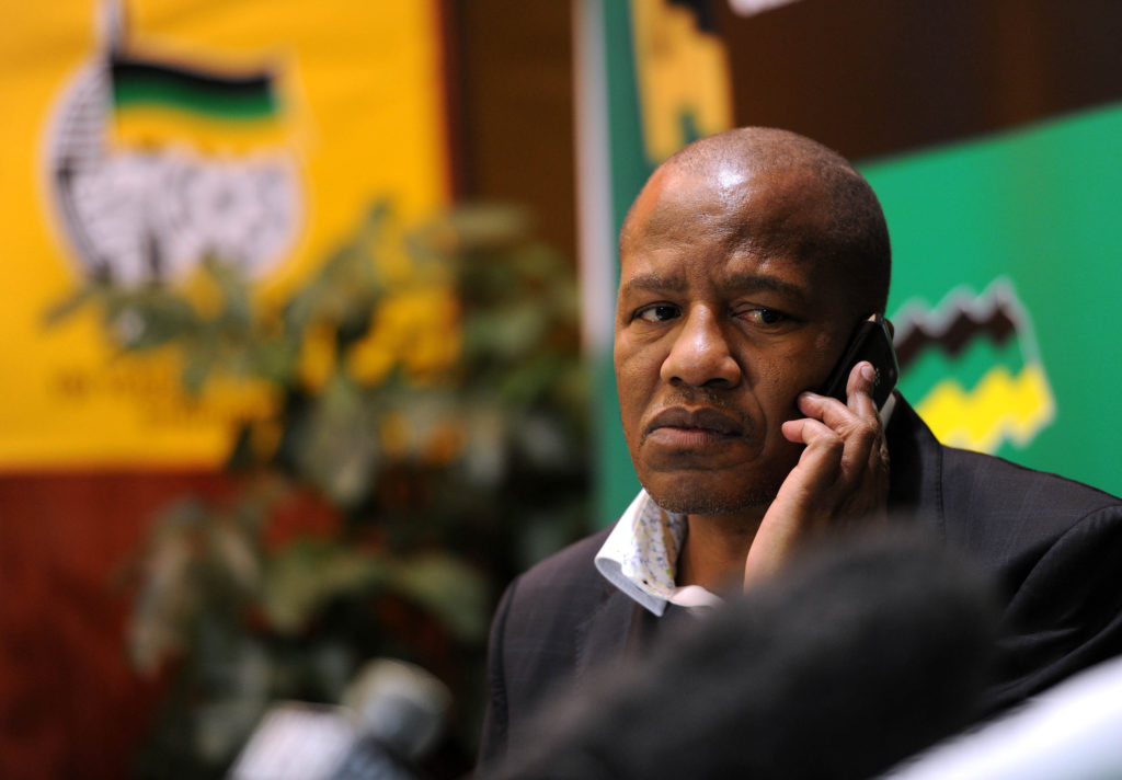African National Congress spokesman Jackson Mthembu is during a news conference in Johannesburg on Monday, 25 June 2012 ahead of the party's policy conference this week. About 3500 delegates were expected to attend the conference in Midrand. Picture: Werner Beukes/SAPA