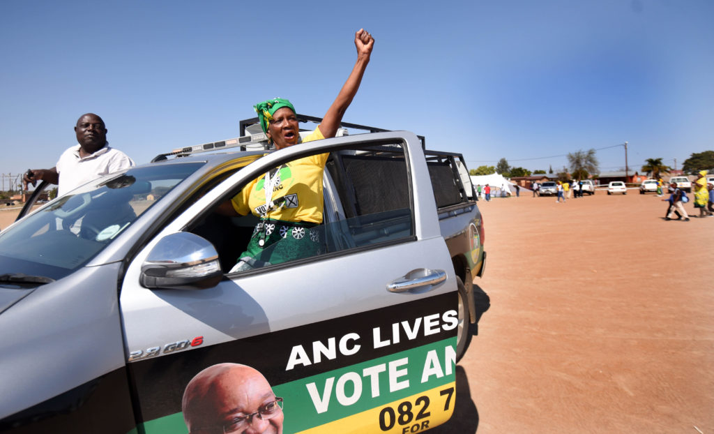 ANC supporters arrive at Luthuli Park, Seshego in Limpmpo, 30 July 2016, after former Limpopo premier Cassel Mathale delivered a keynote address toANC  Tsietsi Mashinini Branch members. Picture: Nigel Sibanda
