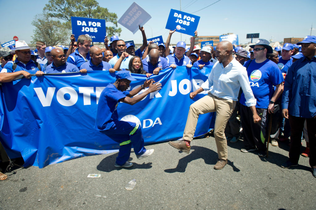 The Democratic Alliance marched in Johannesburg for Jobs.  Photo Delwyn Verasamy