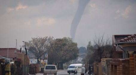 Tornado twists through party plans